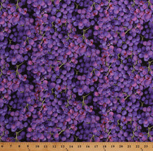 Cotton Grapes Fruits Food Farmer's Market Purple Fabric Print by Yard M7... - $230,52 MXN