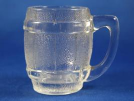Clear Glass Toothpick Holder, Barrel Mug Shaped, Mini Beer Mug Shape - $9.95