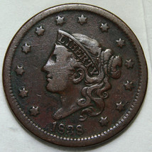 1838 Large Cent Liberty Coronet Head Coin Lot # A 1788