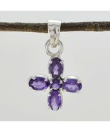 Purple 925 Sterling Silver Natural splendiferous Amethyst jaipur Pendant... - $20.89