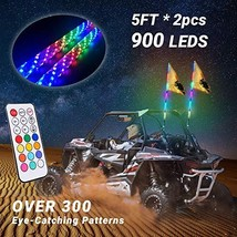 Beatto 5FT1.5M RF Remote Control 360° Sprial LED Whips Light With Dacnin... - $4.117,56 MXN