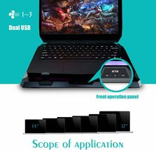 IETS GT300 Double Blower Laptop Cooling Pad for 14-17 Inch Gaming Laptop, Cooler image 7
