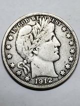 1912D Barber Half Dollar Silver Coin 319-27