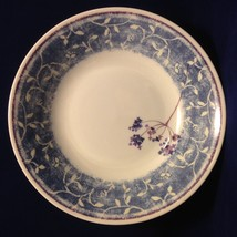 PIER 1 Blueberry Spray Soup Cereal Salad Bowl Earthenware England Blue W... - $12.38