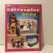 Soda Shop Plastic Canvas Fashion Doll Carry & Play Pattern - $12.59