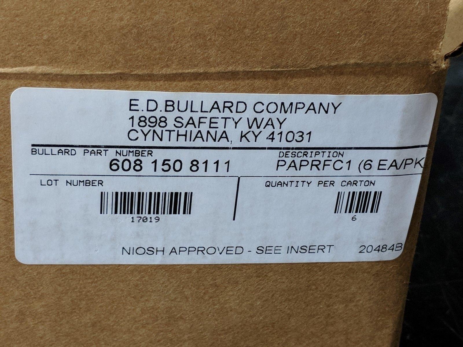 BULLARD PAPRFC1 / LOT OF 8 BOXES / 6 FILTERS PER BOX