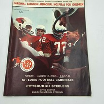 1968 St Louis Football Cardinals vs Steelers Souvenir Program Charity Ga... - $24.95