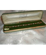 Vintage Vandell Bracelet Gold Filled 12K GF Pearl Accent Original Box / ... - $69.95