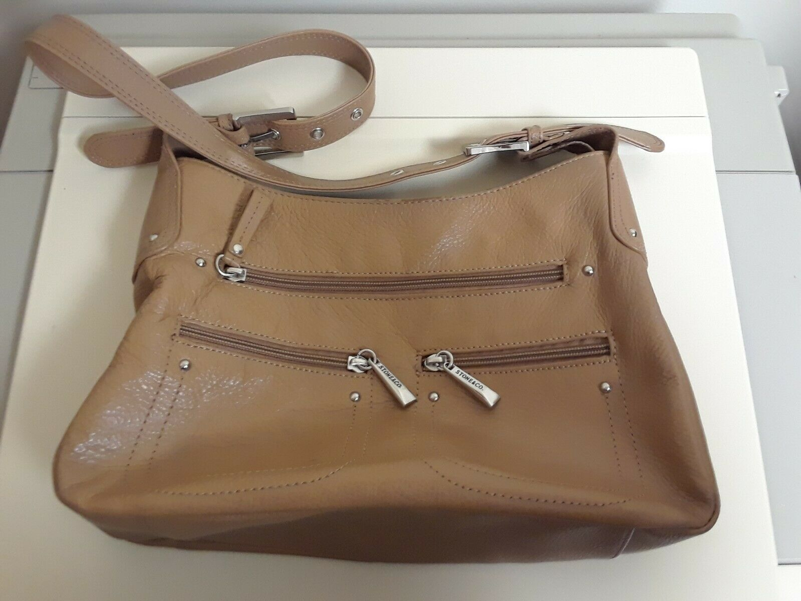 Primary image for WOMENS Stone & Co Tan Leather SHOULDER HANDBAG Excellent Condition