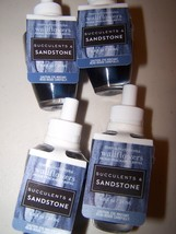 4 Bath & Body Works Succulents & Sandstone Wallflower Home Fragrance Ref... - $25.50