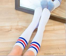 Children's Socks Cotton Striped Stockings Student Performance and Footba... - $8.89
