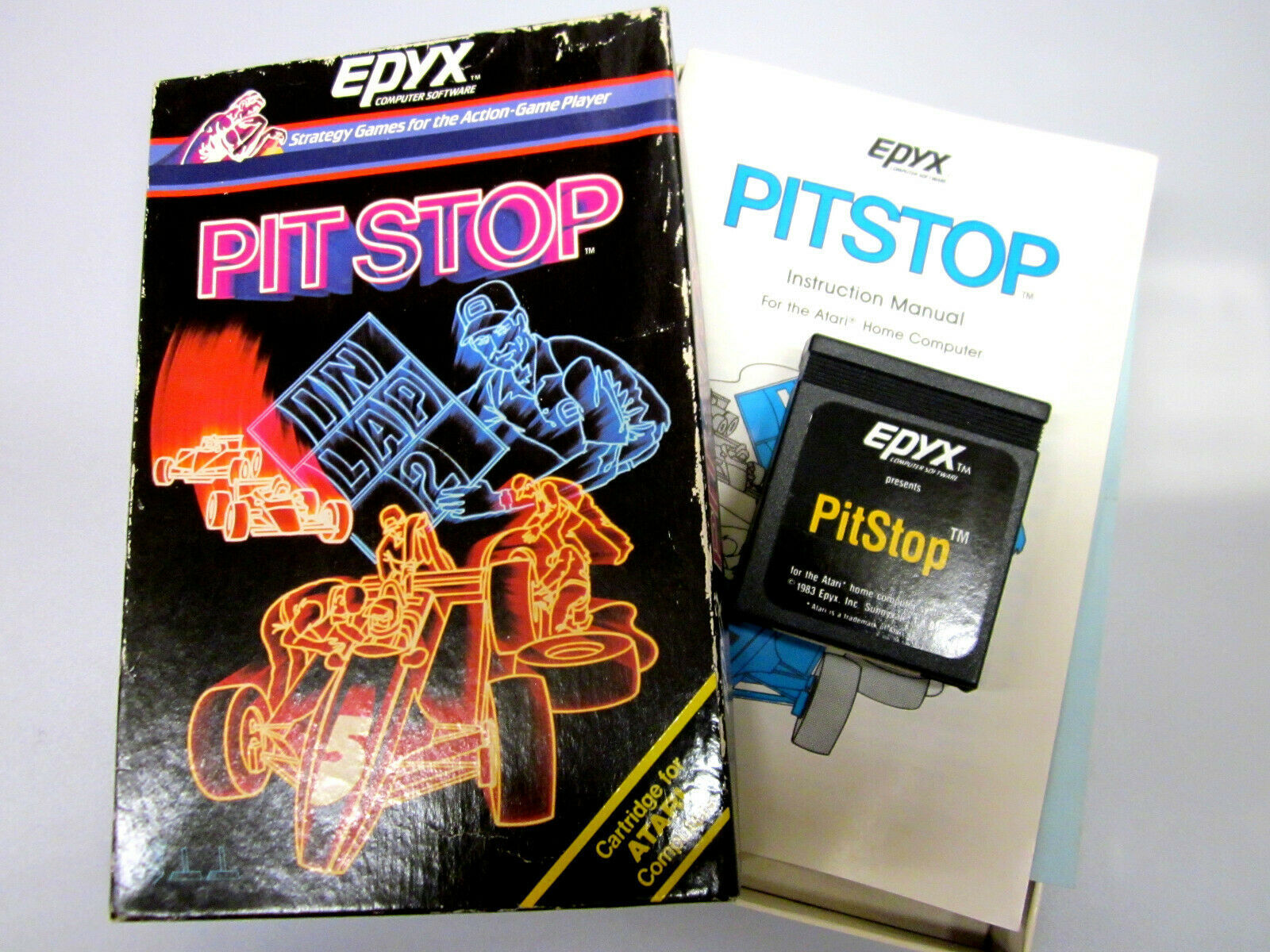 "Primary image for Atari Computer 400 | 600 | 800 | 1200/XL Game ""Pit Stop"" By Epyx ""Open Box"""