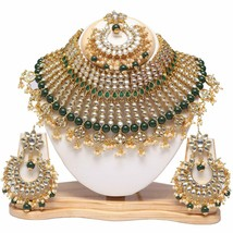 Goldplated Traditional Kundan Pearls G Colour Designer Bridal Jewelry Se... - $47.51