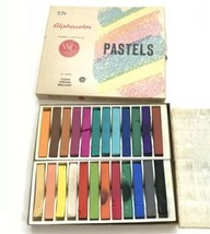 Vintage Alphacolor Weber Costello Pastels 24 Sticks Art Pastel Paint - $19.75