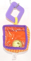 """INFANTINO PEEK RATTLE & TEETHER CUBE LOOP - 3"""" BABY SOFT TOY USED 2007 - $3.88"""