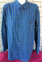Ralph Lauren Chaps Classic XL Mens Button Plaid Shirt Broken in Nicely  - $15.59