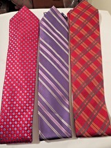 Lot of 3 Mens 100% Silk Designer Neck Ties ( 3 Different Designers ) New... - $13.24