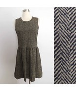 NWT J. Crew size SMALL taupe beige stripe print sleeveless dress career ... - €41,92 EUR