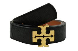 Tory Burch Womens Black Tan Reversible Logo Belt 1.5'' Leather XXL 2XL 8... - $197.51