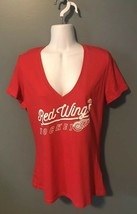 Detroit Red Wings Women's Majestic NHL V-neck T-Shirt Size Large New with Tags! - $12.18