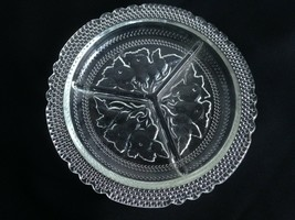 """Vintage Glass Relish/ Candy Nut  9"""" Dish 3 Divided Sections Mid Century ... - $10.84"""
