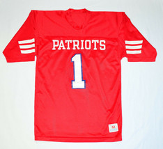VTG 1960s Boston New England Patriots Champion Brand Red #1 Mesh Jersey ... - $148.38