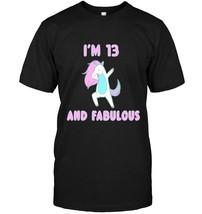 Im Fabulous Unicorn T shirt Birthday Party Tee - $17.99+