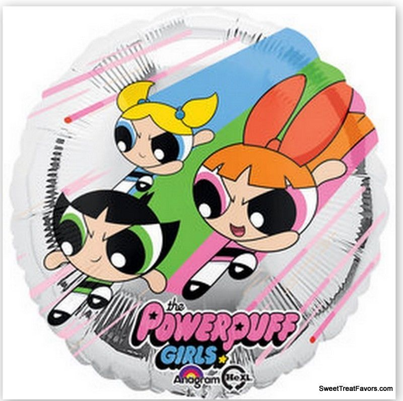 Primary image for Powerpuff Girls Party Supplies BALLOONS Birthday Mylar Decoration Foil Favors x3