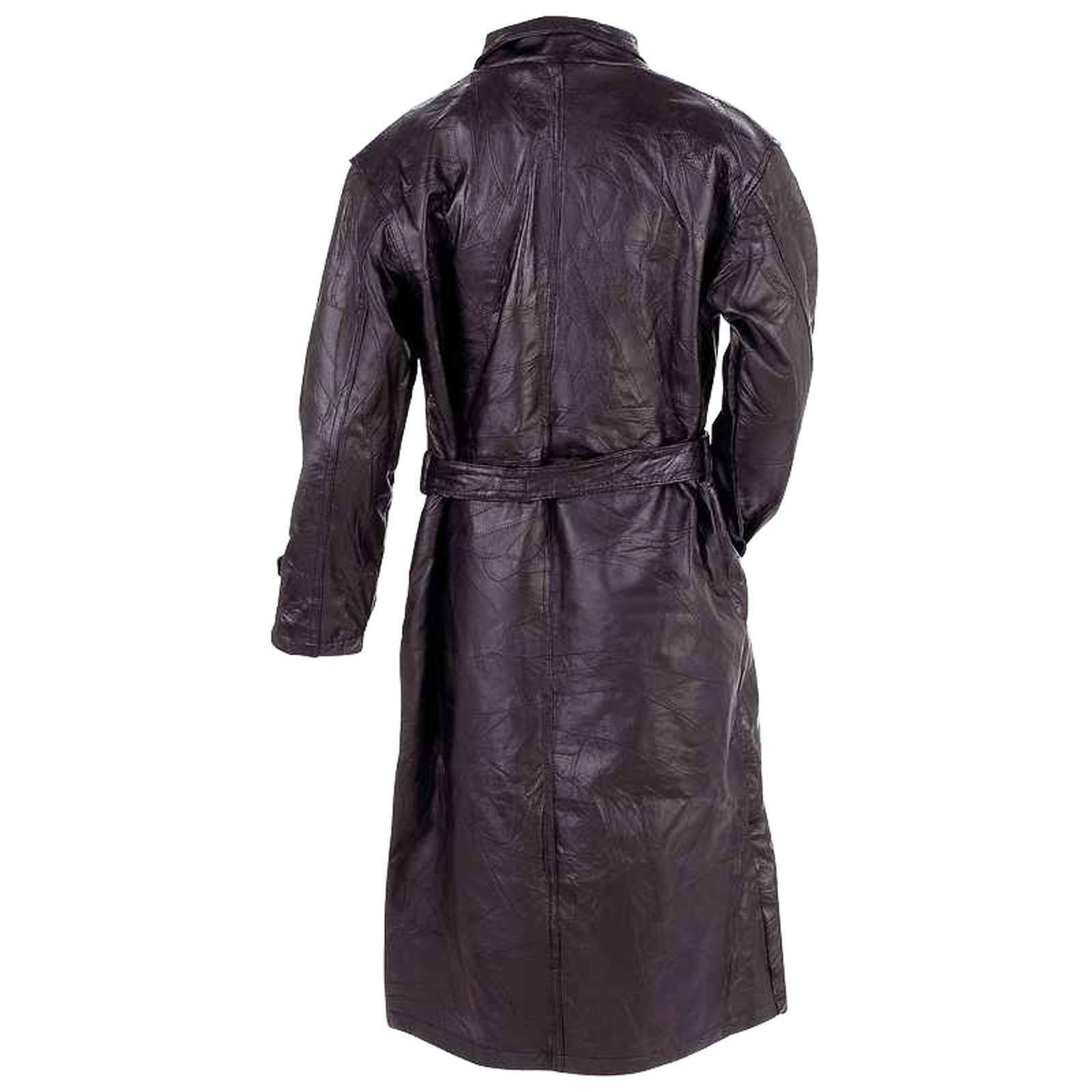 Man's Trench Coat Genuine Leather Full Length by Giovanni Navarre®