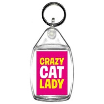 crazy cat lady   handmade in uk from uk made parts keyring, keyfob