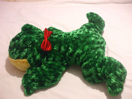 Green Plush Frog Stuffed Animal 22 Inches Long 21 Inches Wide - $64.35