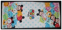 Mickey & Friend Disney Character Polka Tsum Tsum Design 34 X 76 Cm Cotton Towel - $10.99