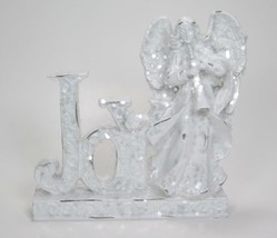 "7""  White Glitter Joy Sign with Angel Christmas Holiday Tabletop Decor - $21.73"