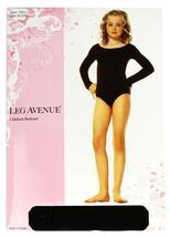 Leg Avenue Girl's Kids Long Sleeve Ballet Dance Leotard Opaque Bodysuit 73011 image 3