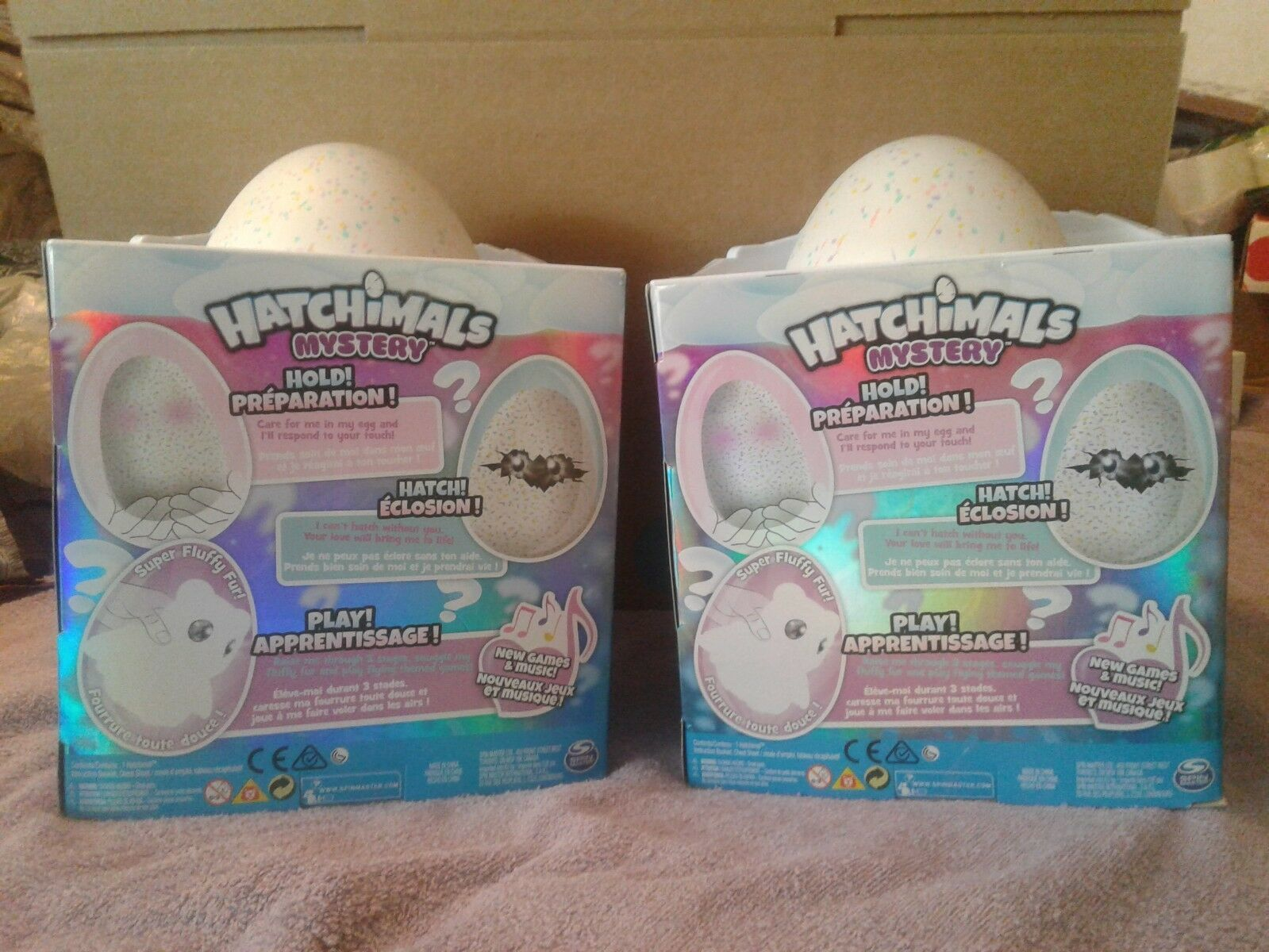 2 PACK HATCHIMALS MYSTERY WHO WILL YOU HATCH FLUFFIEST FLIERS - FREE SHIPPING !