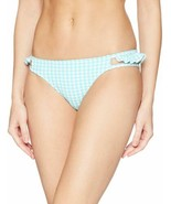 Jessica Simpson Ruffled Cheeky Bottoms Women's Swimsuit (Gingham-Print, L) - $42.90