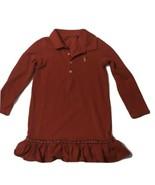 Ralph Lauren Polo Shirt Dress Long Sleeve Red Stretch Girls Size 4  - $16.99