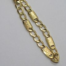 18K YELLOW GOLD BRACELET 4 MM, 7.9 INCHES, ALTERNATE GOURMETTE AND BUBBLES PLATE image 4