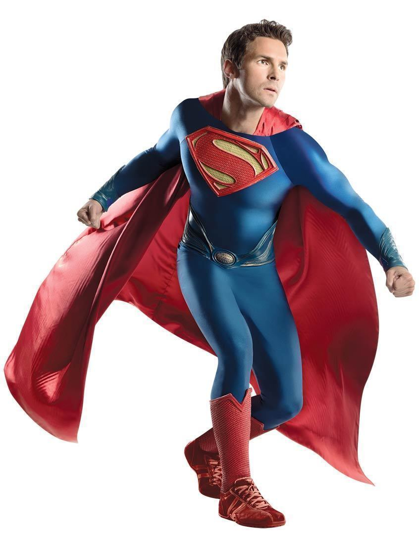 Superman Man Steel Superhero Fancy Dress Halloween Grand Heritage Adult Costume