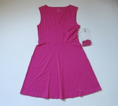 NWT Talbots Casual Jersey in Pink Belted Tie Waist Surplice Sleeveless D... - $23.99