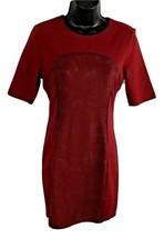 ROMEO & JULIET COUTURE Burgundy Bodycon Round Neck Short Sleeve Dress Sz... - $56.06