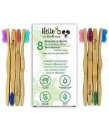 Bamboo Toothbrush for Adults and Teenagers   8 Pack Biodegradable Tooth ... - $14.45