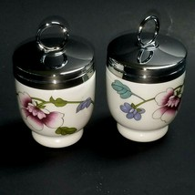 Egg Coddler Royal Worcester Porcelain Signed Floral Design Made in Engla... - $22.72