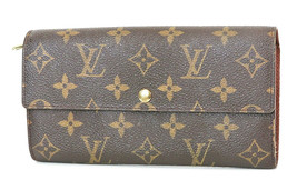 Authentic LOUIS VUITTON Sarah Long Wallet Monogram Zippered Coin Purse #... - $249.30