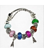 European Style Speckled Glass Charm - 2 Charms Bracelet for Women Fashio... - $20.25