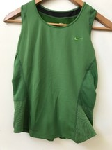 Nike Womens Green Tank Top Dri-fit Athletic Mesh Reflective Detail Size M (8-10) - $16.95