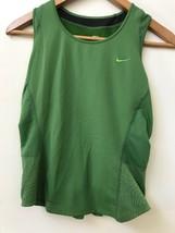 Nike Womens Green Tank Top Dri-fit Athletic Mesh Reflective Detail Size ... - $16.95