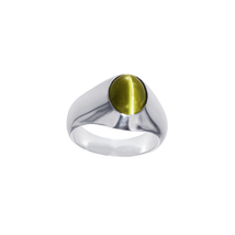 Natural Oval Cat's Eye Stone Sterling silver Ring  - $2,500.00