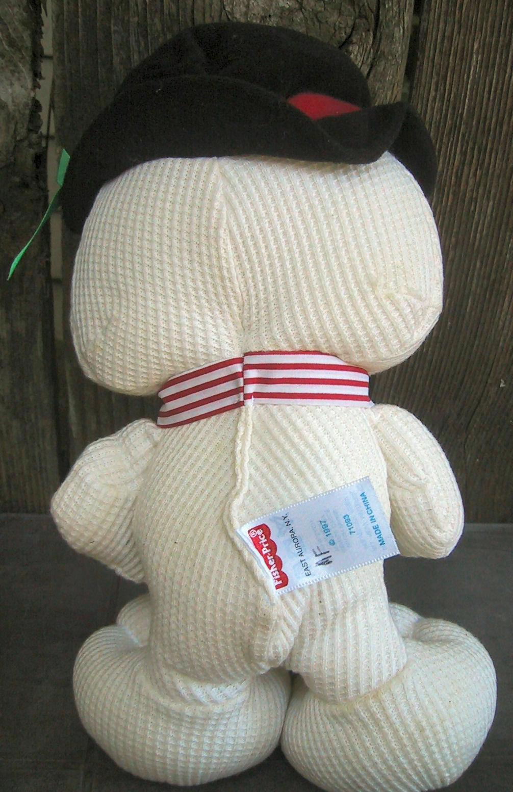 Fisher Price 1997 Cozy Cozie Bear Thermal Snowman Plush Doll 71093 Stuffed