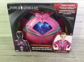 Power Rangers Deluxe Ranger Pink Dress Up Shirt Costume Light Chest Armor 4-7x - $14.84